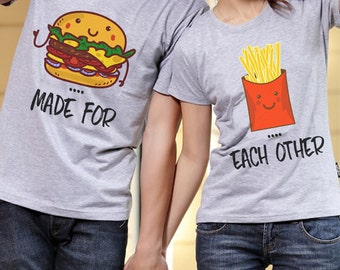 Best Friends Sweatshirts Best Friends Burger And Fries Sweater Couple sweatshirts Made for Each Other Matching sweatshirts Couple matching 4ng94