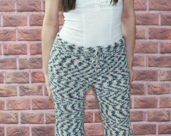 Crocheted Baggy Sweat Pants Pattern   1214