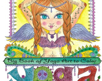 COLORING BOOK YoGa Zentangle style Coloring Book for you to CoLoR Meditate Zen Out with this fun book filled with Yoga Girls