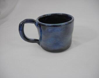 Variegated Stoneware Ceramic Mug, Handmade Pottery, Hand Painted, Hand Thrown, Drinkware, Coffee, Tea, Cup (C0022)