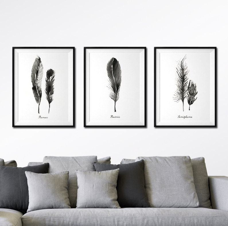 Black And White Art Set