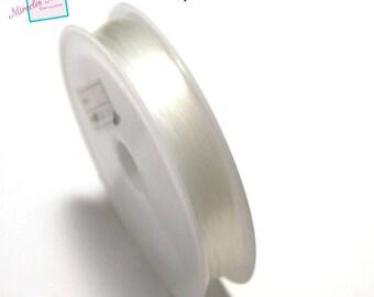1 spool of 0.5 mm x 30 m fishing line, transparent white