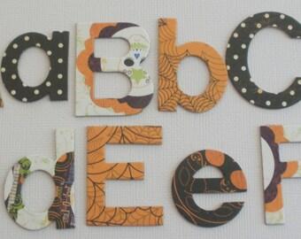 "Fright Night Halloween --  Chipboard Letters --  1.5"" Alphabet Die Cuts:  New BLOCK FONT"