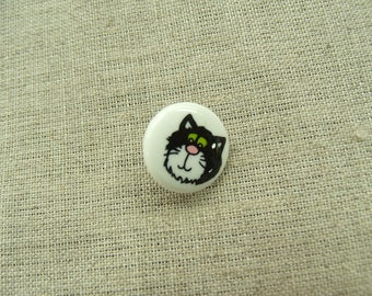 Buttons decorative child - cat pattern