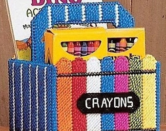 CHILD'S CRAYON TOTE 2 - Storage - Coloring Book and Crayons - Child's Gift