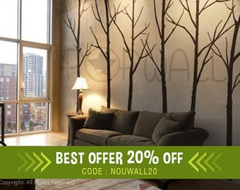 Wall Decal Winter Tree Wall Decal, for Living room, bedroom Wall decals Wall Sticker art, Simple and Modern Popular Wall design - 036