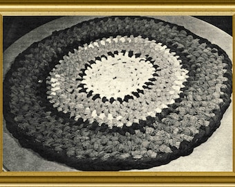 Rug pattern Make a rug with old socks Reuse, repurpose, recycle-Easy project-No knitting or crochet