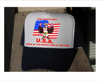 U.S.A. LAND OF FREE hat.