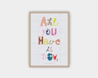 Printable, DIY, Zen Quote, Handmade Inspirational Wall Art, Typography Poster, Motivational Print, Handmade, Instant Download