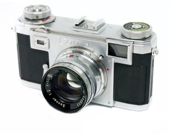 Contax IIa Type 2 rangefinder 35mm film camera with Zeiss Sonnar 50mm F2.0 lens