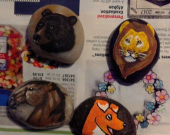 Custom Pet Rock, Made to Order, Horse, Bear, Lion, Dog, Octopus, Fox, Monster, Any Animal, Animal, Nature
