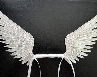 Angel and Fairy Wings-Iridescent-OOAK Wings for Dolls and Bears (Made to Order by Request)