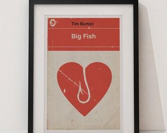 Big Fish - Tim Burton Films Reimagined as Vintage Books 12x18 Poster