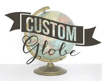 Custom Painted Vintage Globe