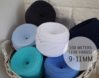 100m Tshirt Yarn Extra Bulky for Crochet and Knit Projects - perfect for Poufs, decorative Cusions and other volume projects