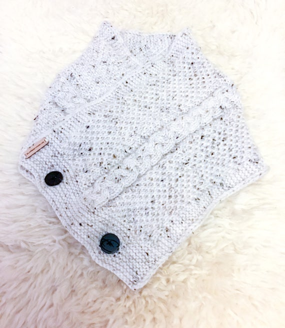 Neck Cowl Knitted Scarf Buttoned Scarf Ladies Scarf Mens