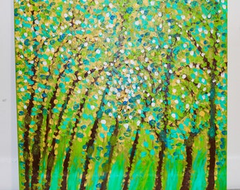 Nature Capture with Brush,Acrylic Canvas Painting