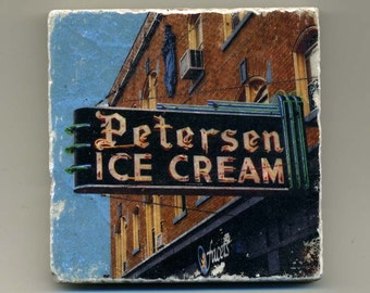 Petersen Ice Cream in Oak Park - Original Coaster