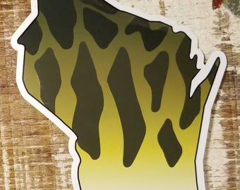 Wisconsin Smallmouth Bass Sticker Decal