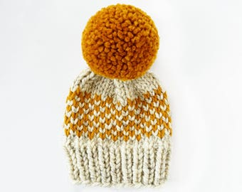 Toddler Hats for Boys // Knit Beanie // Hats for Kids // Hats for Women // Knit Hat // Pom Hat