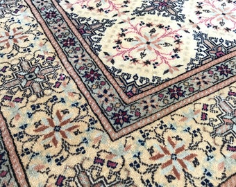 Time for a play date, Vintage Turkish Kayseri, Oushak, Pink, 5x7