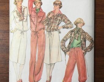 VINTAGE 1970s Butterick 5612 Vintage Sewing Pattern Misses Jacket, Skirt, Pants Size 14 Bust 36