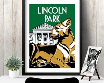 LINCOLN PARK Chicago Neighborhood Poster