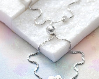 Personalised Sterling Silver Initial Charm Bracelet (HBB62)