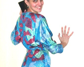 ON SALE Vintage 1970s Handmade SHINY Long Dress