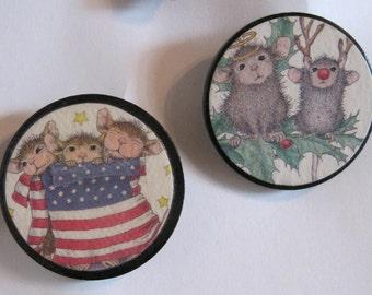 Pins, Patriotic Pin, Christmas Pin, Mice Pins, Mouse Pin