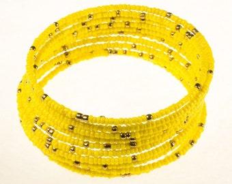 Yellow Twirl Bracelet