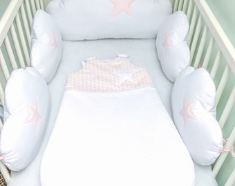 Size 6-20 months pink and white baby sleeping bag.