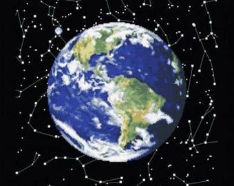 Cross Stitch Kit Planet Earth 2