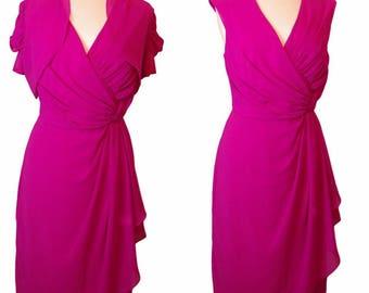 Pink Georgette Silk Dress with Georgette Silk Bolero