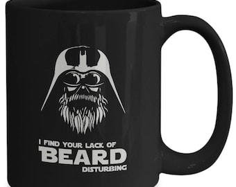 I find your lack of beard disturbing coffee mug funny darth vader