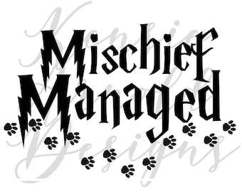 Mischief Managed Monogram Addition for Dog Bandana - Matte, Glitter & HOLO Options