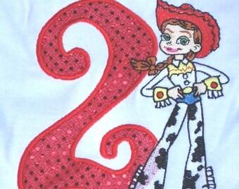 Red Jessie Toy Story 2nd Birthday Onesie Personalized
