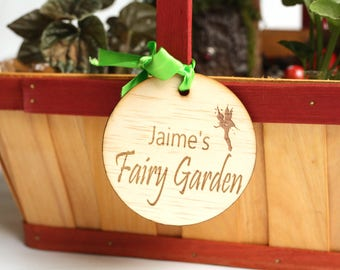 Personalised Fairy Garden Tag, Fairy Garden Sign