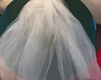 Vintage Bridal Bride Headpiece Veil Comb