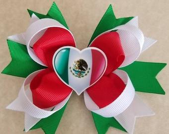 Mexico hair bow!  4 1/2 inches.