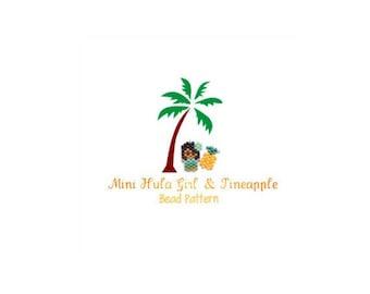 Small Hula Girl & Mini Pineapple Charm Patterns