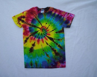 Childrens-Happy Spiral Tie Dye Size Youth Small