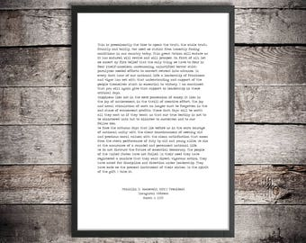 Franklin D Roosevelt Printable Quote 'Fear Itself' Instant Download FDR Quote Inaugural Address American History Quote Presidential Speech