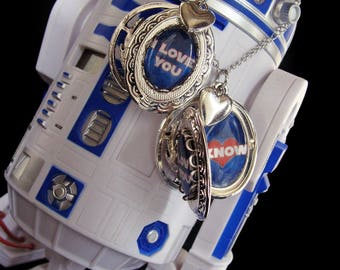 I Love You I Know - Necklace - Princess Leia - Han Solo - Star Wars Love Story - True Love - Locket - Jedi - May The Force Be With You