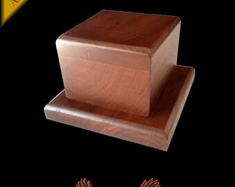 "Walnut Trophy Award Base 5.25"" x 5.25"" x 3""  Wagler Awards-"
