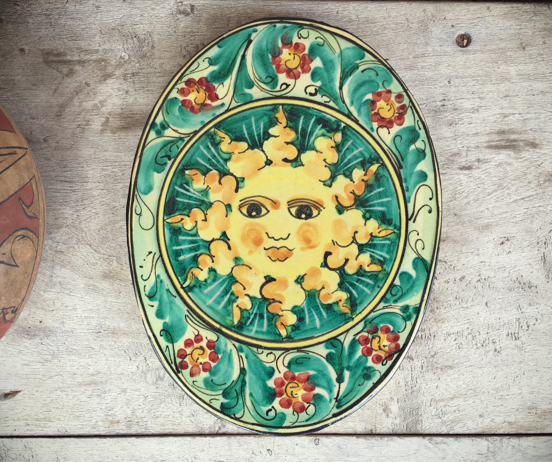 Talavera Pottery Wall Hanging Sun Decor, Mexican Decor, Southwestern ...