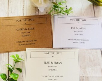 Simple A6 Save the Dates