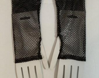 Metallic Fishnet Wristwarmer