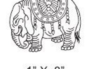 Small Ceremonial Elephant Rubber Stamp 278
