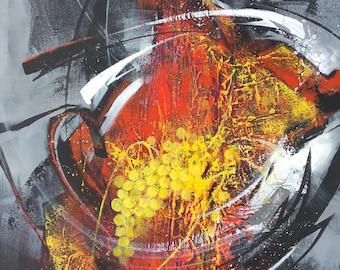 "Abstract art acrylic painting ""summer fun"""